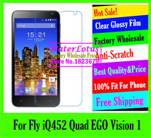 Clear Glossy mobile protective film to phone screen protector For Fly iQ452 Quad EGO Vision 1 de pantalla Anti-Scratch LCD film
