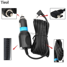 DC 5V 2.1A Mini USB Car Power Charger Adapter Cable Cord 3.5m For GPS Car Camera Drop shipping(China)
