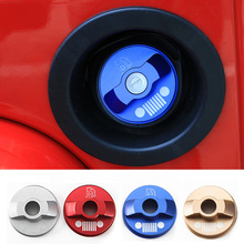 NEW Arrival Interior Fuel Gas Tank Cap Cover Aluminium Inner Fuel Gas Lid Tank Cap Door Coverfor Jeep Wrangler 07 up