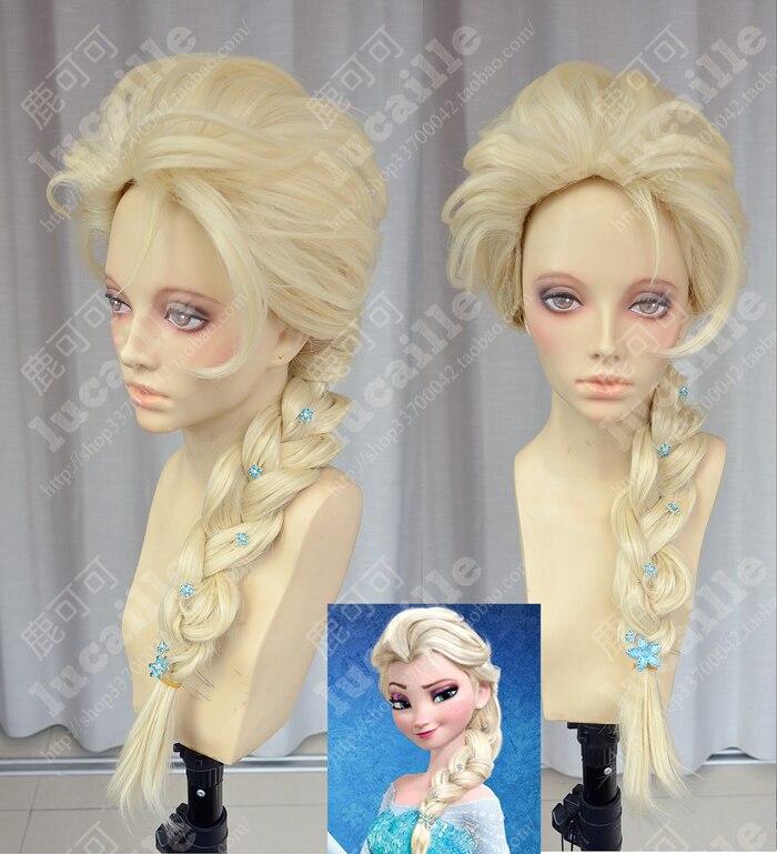 Elsa Wig Long Blonde Braid with bun Cosplay Wig<br><br>Aliexpress