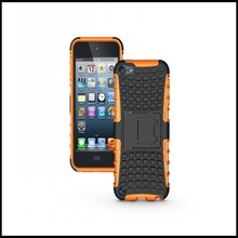 For iPod Touch 5 6 Cover Case Pad Wallet Anti-Knock Bag 2 In 1 Heavy Armor Accessory For Apple iPod Touch 5 6 Protective Case(China)