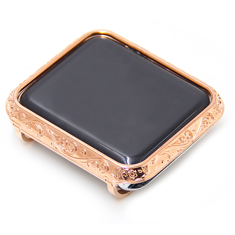 luxury metal watch case for apple Housing cover watch shell 38-42mm (5)