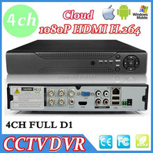 Full D1 H.264 HDMI Security System CCTV DVR 4 Channel Mini DVR Digital Video Recorder DVR with audio,HDMI,Cloud P2P