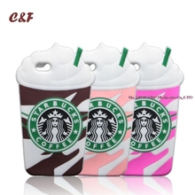 5C Starbuck Cases For iPhone 5C Case Frappuccino Coffee Cup Silicone Phone Cover