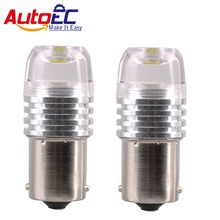 AutoEC Strobe Brake Light Bulb Flash Stop Lamp 3w COB lens 1156 1157 ba15s bay15d Flashing Turn signal lamps #LF77
