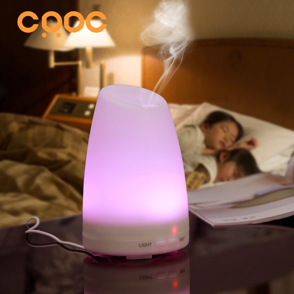 CRDC Ultrasonic Air Aroma Humidifier 100ml With Changing 7 Color LED Lights Electric Aromatherapy Essential Oil Aroma Diffuser<br><br>Aliexpress