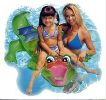 Summer Fun Island Water Entertainment INTEX 56521 Crocodile Riding On Inflatable Horse Pool Float Children Water Animal Toy Gift