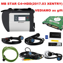 2017 Top Quality mb star c4 Full Chip mb star sd c4 Mb Star diagnostic tool Support car/truck Developer xentry/vediamo/das/epc