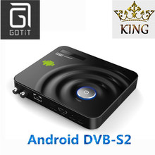 Android Satellite Decoder with KING Europe IPTV Arabic Italy UK Spain Germany France PayTV & VOD Smart DVB-S2 Receiver IPTV Box