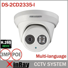 HIK Full HD 1080P 3MP POE Camera DS-2CD2335-I Replace DS-2CD2332-I H.265 ONVIF Infrared Camera Waterproof CCTV IP Camera