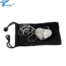 Trangee Diamond Heart Love USB Flash Drive 4GB 8GB 16GB 32GB USB 2.0 Flash Memory Stick Gift Bag