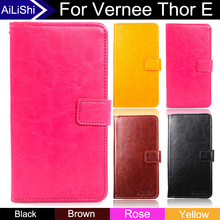 AiLiShi For Vernee Thor E Case Book Flip Hot Sale PU Leather Case Protective Cover Phone Bag Wallet With Card Slot+Tracking