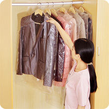 Hanging Organizer 5 pcs 60x90cm Plastic Suit Garment Dustproof Storage Bags Cover Clothes Dress Protector