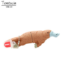 Cartoon Platypus USB Flash Drive Disk Memory Stick 4GB 8GB 16GB 32GB PenDrive Pen Drive PC Gift Brown Duck USB Drive