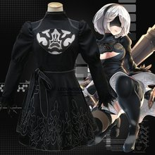 2017 Hot New Games Cosplay NieR: Automata Women 2B Costumes Fancy Party Dress for Halloween Christmas Gift