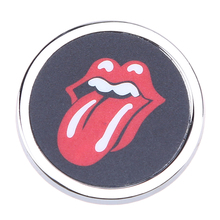 Car Room Funny Round Mini 3D Car Auto Motorcycle Badge Logo Emblem Sticker SUV Truck Car-Styling 35mm Big Red Tongue Style(China)