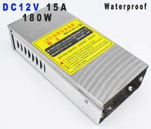 High Quality Waterproof switching power supply 12v 15A 180W led driver transformer 220v 110v ac-dc SMPS for Led strip lamp(China)
