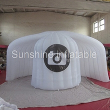 Custom made top quality advertising 5m igloo giant inflatable photo booth tent round wedding photo booth with LED lighting