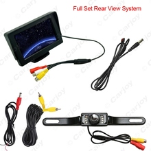 "4.3"" inch 2 in 1 TFT LCD Digital Monitor Reversing Backup License Plate Camera Car Rear View System  #CA3596"