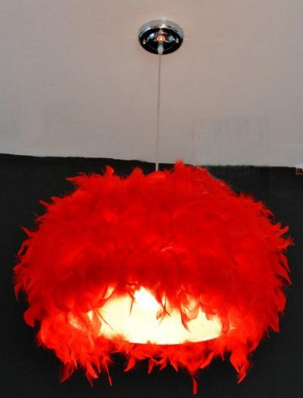 New Modern White Feathers Pendant Lamp Lighting Diameter: 17.7/45cm<br><br>Aliexpress