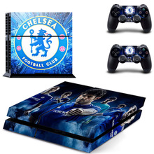 Chelsea Football Team PS4 Skin Sticker Decal Vinyl For Sony PS4 PlayStation 4 Console and 2 Controllers Stickers