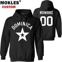 DOMINICA pullover logo custom name number autumn winter dm Jersey keep warm hat dma flag spanish Dominican Dominicana NR clothes(China)