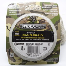 free shipping spiderwire fishing line STEALTH CAMO-BRAID Dyneema PE 125YD 6LB 8LB 10LB 15LB 20LB 30LB 50LB 80LB lines