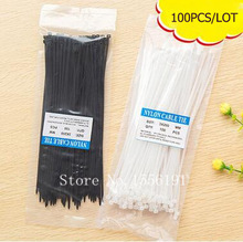 100PCS/Lot, Self-locking nylon cable ties,White small type 3*100 mm A10-1-01,Tied with wire,Wire binding wire(China)