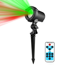 Red Green Laser Lights Outdoor Garden Star light Christmas Laser Projector IP44 Waterproof IR Remote Control Show RG Decoration(China)