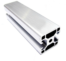 4040 HE Aluminum Profile Extrusion 40 Series Two Sides Closed, Aluminum Tube Length 1 Meter