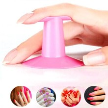 Pro Soft Nail Art Pink Finger Support Stand Rest Holder For Gel Polish 3D Flower Painting Drawing Coating Salon Accessories(China)