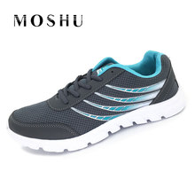 Air Mesh Men Sneakers Canvas Shoes Trainers 2017 New Men Casual Shoes Lace Up Breathable Summer Walking Brand Zapatillas Hombre(China)