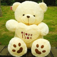 Hot Sale Stuffed Plush Toys 45cm 60cm LOVE Big Plush Teddy Bear Soft Gift Valentine Day Birthday Toys(China)