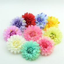 5PCS 9cm Lagre Silk Artificial Chrysanthemum Flowers Heads For Home Garden Wedding Party Decoration Hair Craft Accessories