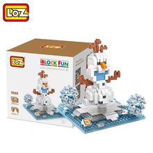 LOZ Single Sale Mini Olaf Snow Baby Cute Dolls Diamond Bricks Assemble Models Building Blocks Toys Children 9500 - LOZs Block Store store