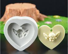 Angels mould mold letters angel Fragrance wax mould soap mould handmade chocolate fondant molds(China)