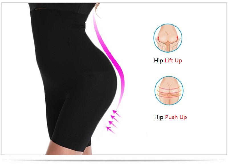 NINGMI Slimming Pants Women High Waist Trainer Tummy Control Panties Thigh Butt Lifter Slim Leg Hot Body Shaper Firm Power Short 9