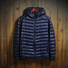 2017 Autumn Winter Duck Down Jacket Hooded Men Ultra Light Thin Winter Down Coats Men Fashion Men's Winter Jacket AKITSUMA