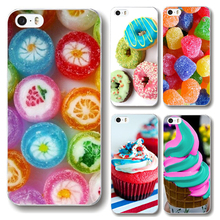 Cute Sweet Dessert Ice Cream Macarons Cupcake Heart Candy Donut Soft TPU Case Cover For iPhone 5 5s SE 6 6s Plus 7 7 Plus