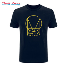 2016 New Summer OWSLA Logo T Shirt Men DJ Skrillex T-Shirt Short Sleeve Cotton Men Hip Hop Tee Shirt Tops Free shipping