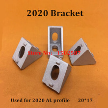 20pcs 2020 Brackets Corner fitting angle aluminum 20x20 L Connector bracket fastener for 2020 Industrial Aluminum profile(China)