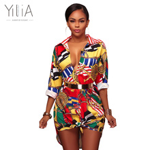 Buy Yilia Women Dress Autumn Tunic Sexy Cool Shirt Fashion Floral Print T Shirts Casual Long Sleeve Vintage Boho Beach Party Dresses for $13.51 in AliExpress store
