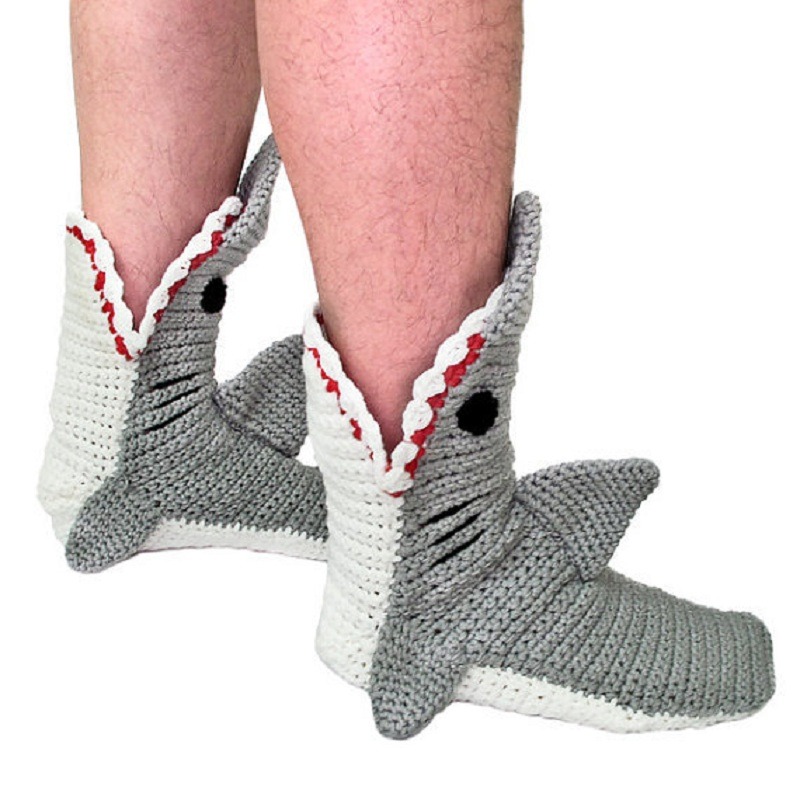 """Shark Snack"" Cute Funny Shark Socks 2"