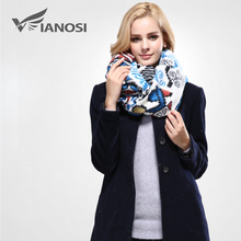 [VIANOSI] European Style Bandana Winter Scarf Women Warm Wrap Brand Shawls and Scarves Top Quality Cotton Scarf Woman VA093(China)