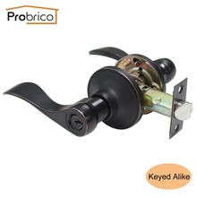 Probrico Keyed Alike Door Lock Stainless Steel Entrance Lock Security Wave Style Door Handle Knob Oil Rubbed Bronze DL12061ORBET(China)