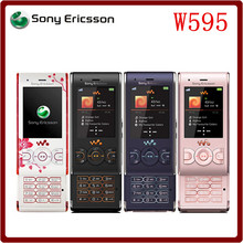 W595 Original Unlocked Sony Ericsson W595 GSM 2G Bluetooth 3.15MP Refurbished Mobile phone Free Shipping