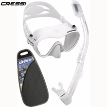 Cressi F1 Dry Snorkeling set Diving Mask Dry Snorkel for Adults