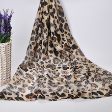 [Jinjin.QC] Fashion viscose Scarf winter Women Leopard Scarves and Shawls echarpe foulard femme warm bandana jersey hijab