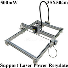 Laseraxe 405nm 500mW DIY Desktop Mini Laser Engraver Engraving Machine Laser Cutter Etcher 35X50cm Adjustable Laser Power