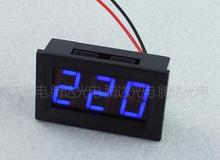 1pc Blue 0.56 inch AC70-500V Digital Voltmeter Voltage Panel Meter LED Digital Voltmeter Voltage Display 2 Wires 48*29*20mm